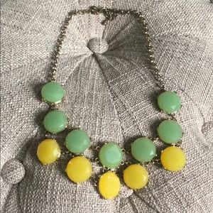 J crew green & yellow necklace.